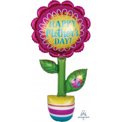 "FLOWER HAPPY MOTHER'S DAY MULTI-BALLOON P70 PKT (26"" x 63"")"