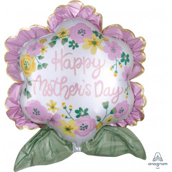 """FLOWER SATIN HAPPY MOTHER'S DAY SHAPE P35 PKT (25"""" x 27"""")"""