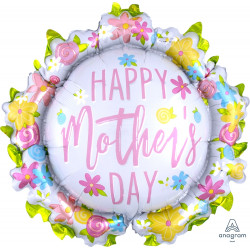 "WREATH HAPPY MOTHER'S DAY SHAPE P35 PKT (30"" x 28"")"