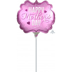 MARQUEE SATIN HAPPY MOTHER'S DAY MINI SHAPE A30 INFLATED WITH CUP & STICK