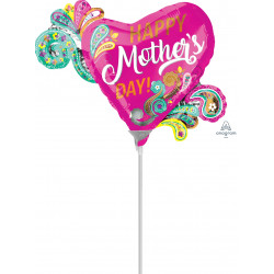 PAISLEY HEART MOTHER'S DAY MINI SHAPE A30 FLAT