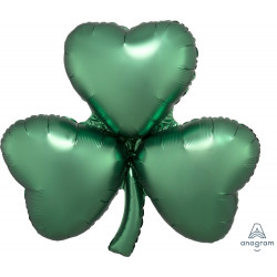 EMERALD SATIN SHAMROCK SHAPE P35 PKT