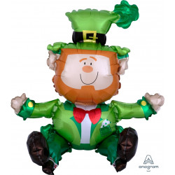 SITTING LEPRECHAUN MULTI BALLOON A70 PKT