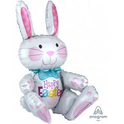 "SITTING BUNNY MULTI BALLOON A70 PKT (18"" x 24"")"