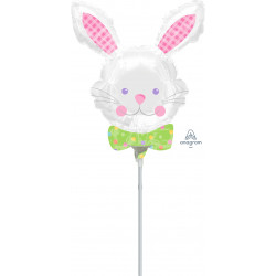 HAPPY HOP BUNNY MINI SHAPE A30 INFLATED WITH CUP & STICK