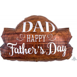 "WOOD MARQUEE FATHER'S DAY SHAPE P30 PKT (28"" x 18"")"