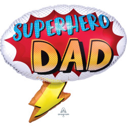 "YOUR MY SUPERHERO DAD SHAPE P30 PKT (27"" x 26"")"