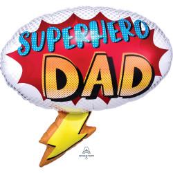 "YOUR MY SUPERHERO DAD SHAPE P30 PKT (27"" x 26"")"