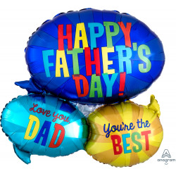 "MESSAGES FATHER'S DAY SHAPE P35 PKT (26"" x 26"")"