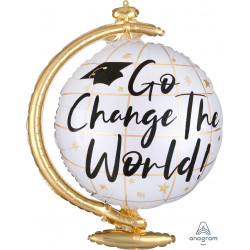 "CHANGE THE WORLD GLOBE SHAPE P35 PKT (23"" x 23"")"
