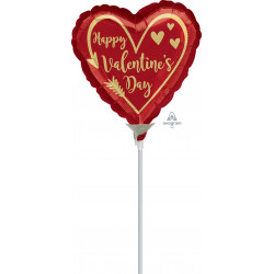 "ARROW HEART 9"" A15 INFLATED WITH CUP & STICK"