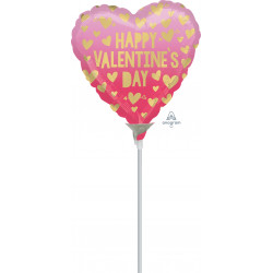 """PINK OMBRE HAPPY VALENTINES DAY 9"""" A15 FLAT"""