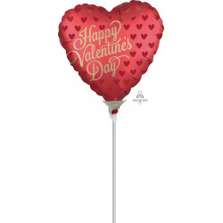 """SANGRIA SATIN INFUSED HAPPY VALENTINE'S DAY 9"""" A15 FLAT"""