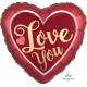 SANGRIA & GOLD SATIN LOVE YOU STANDARD S40 PKT