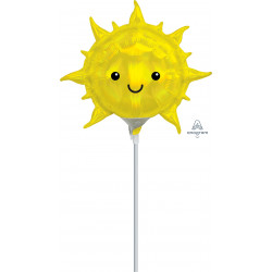 IRIDESCENT SUN MINI SHAPE A30 INFLATED WITH CUP & STICK