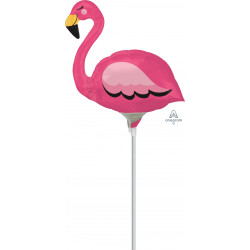 FLAMINGO MINI SHAPE A30 INFLATED WITH CUP & STICK