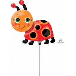 MISS LADYBUG MINI SHAPE A30 INFLATED WITH CUP & STICK