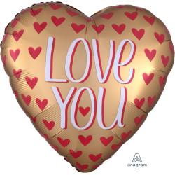 GOLD SATIN LOVE YOU JUMBO P32 PKT
