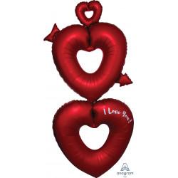 """OPEN HEARTS MULTI-BALLOON P70 PKT (29"""" x 63"""")"""