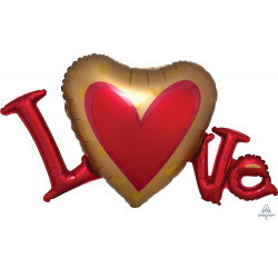 """LOVE SATIN SHAPE P35 PKT (33"""" x 19"""")"""