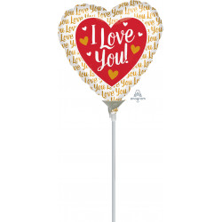"GOLD I LOVE YOU 4"" A10 FLAT"