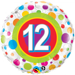 "COLOURFUL DOTS AGE 11 18"" PKT"