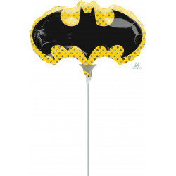 BATMAN MINI SHAPE A30 INFLATED WITH CUP & STICK