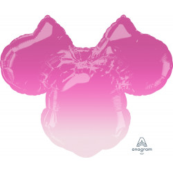 "MINNIE MOUSE FOREVER OMBRE SHAPE P38 PKT (28"" x 23"")"