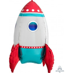 "ROCKET SHIP MULTI BALLOON A70 PKT (16"" x 21"")"