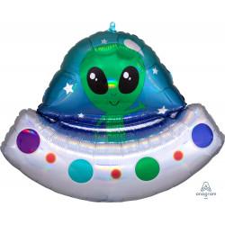 "ALIEN SPACESHIP IRIDESCENT SHAPE P40 PKT (28"" x 21"")"