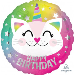 CATICORN HAPPY BIRTHDAY STANDARD S40 PKT