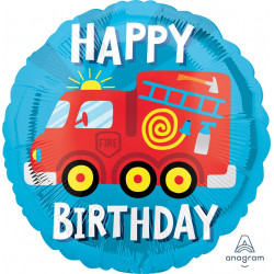 FIRETRUCK HAPPY BIRTHDAY STANDARD S40 PKT