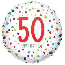 CONFETTI 50 BIRTHDAY STANDARD S40 PKT