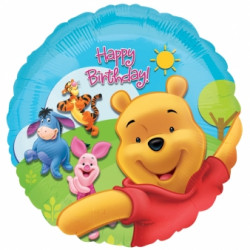 POOH & FRIENDS HAPPY BIRTHDAY 18""