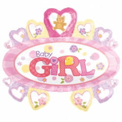 BABY GIRL MARQUEE SHAPE P35 PKT SALE