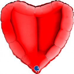 "* RED METALLIC HEART 18"" OFFER 4 (2500CT) *"