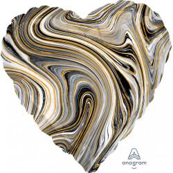 BLACK MARBLEZ HEART STANDARD S18 FLAT A