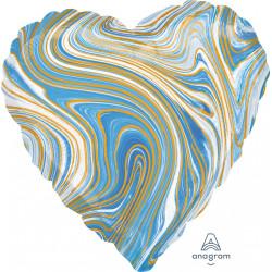 BLUE MARBLEZ HEART STANDARD S18 FLAT A