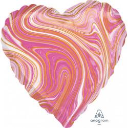PINK MARBLEZ HEART STANDARD S18 FLAT A