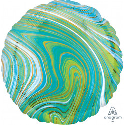 BLUE GREEN MARBLEZ CIRCLE STANDARD S18 FLAT A