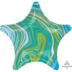 BLUE GREEN MARBLEZ STAR STANDARD S18 FLAT A