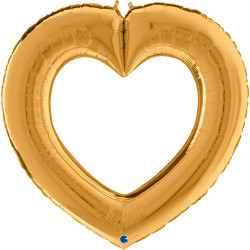"LINKY HEART GOLD 41"" SHAPE C PKT"