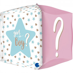 "SQUARE GENDER REVEAL 15"" PKT"
