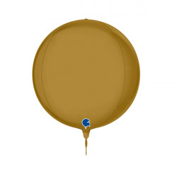 "GOLD SATIN GLOBE 11"" PKT"