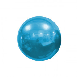 "LIGHT BLUE 18cm/7"" MIRROR GLOBE FOIL BALLOON"
