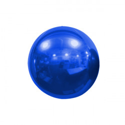 "BLUE 18cm/7"" MIRROR GLOBE FOIL BALLOON"