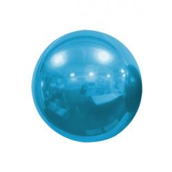 "LIGHT BLUE 25cm/10"" MIRROR GLOBE FOIL BALLOON"