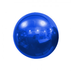 "BLUE 25cm/10"" MIRROR GLOBE FOIL BALLOON"