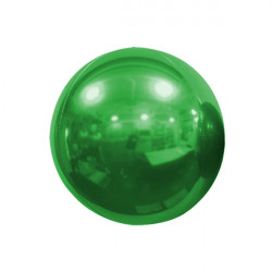 "GREEN 25cm/10"" MIRROR GLOBE FOIL BALLOON"
