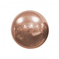 "ROSE GOLD 25cm/10"" MIRROR GLOBE FOIL BALLOON"